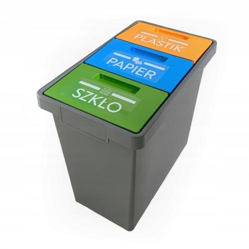 Potrójny pojemnik do segregacji śmieci