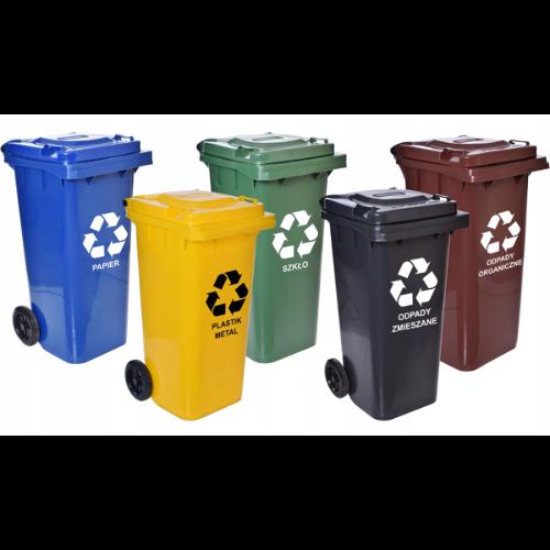 Pojemniki do segregacji odpadów na zewnątrz