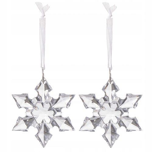Kryształowe bombki świąteczne w kształcie gwiazd