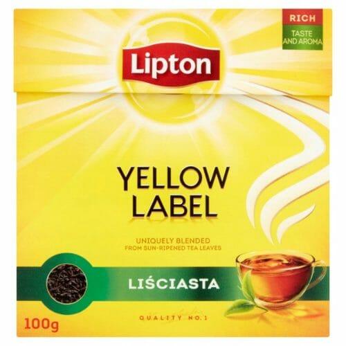 Lipton Yellow Label - herbata liściasta czarna