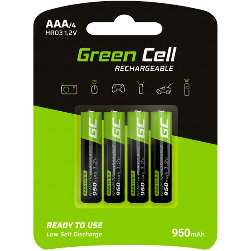 Akumulatory Green Cell R03/AAA 950mAh