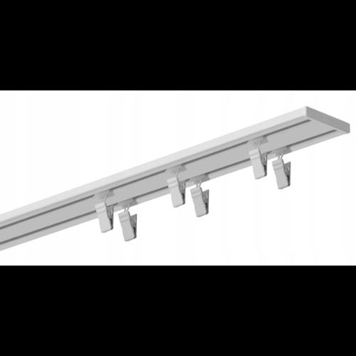 Szyna sufitowa aluminiowa mała podwójna - opcja na wymiar