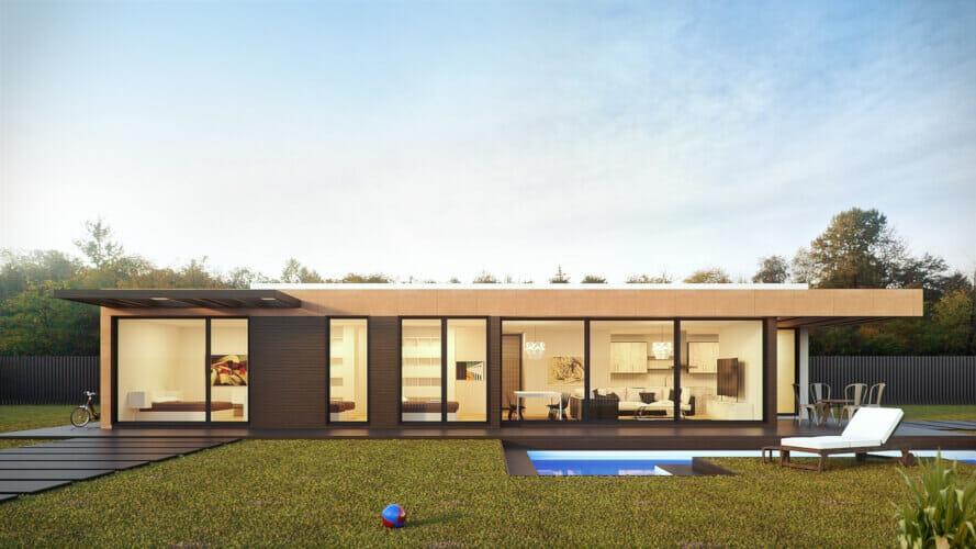 nowoczesny dom modułowy