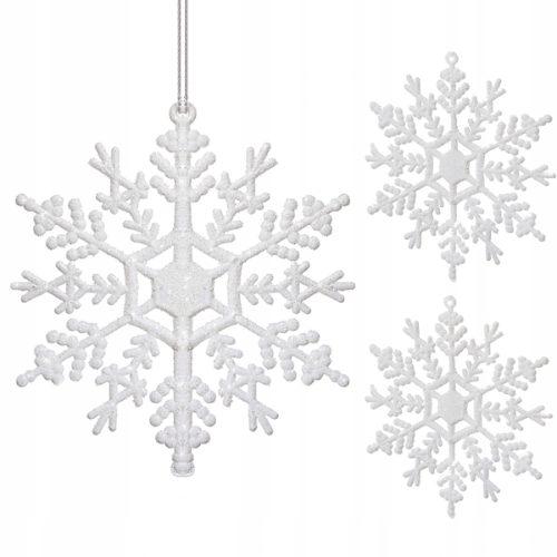 Zawieszki na choinkę w kształcie śnieżynek