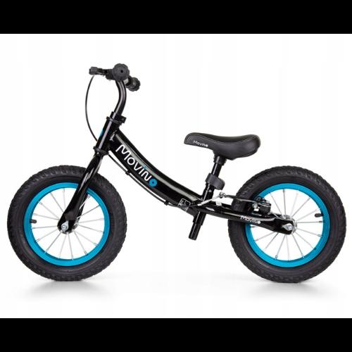"""Rowerek biegowy Movino Adventure 12"""" czarno-niebieski"""