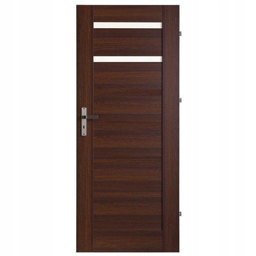 Brązowe drzwi łazienkowe z przeszkleniem ImperioLine Caruso