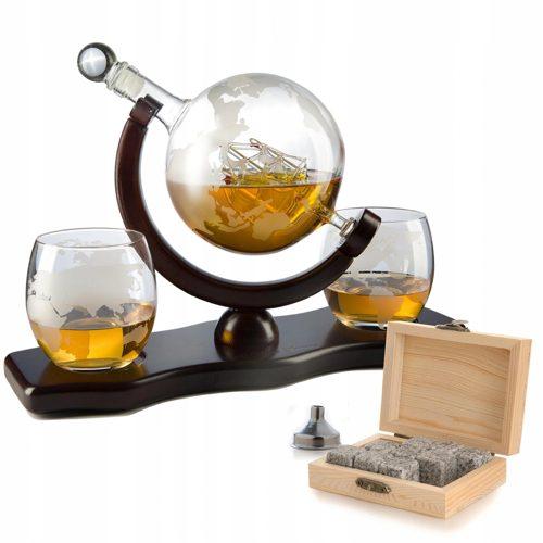 Karafka na whisky w kształcie globusa