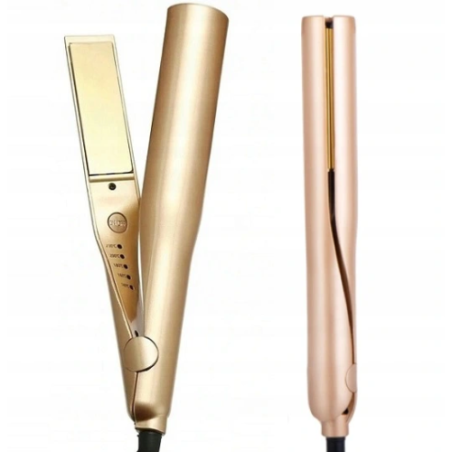 Twistline QL-105 - złota prostownica z funkcją kręcenia włosów