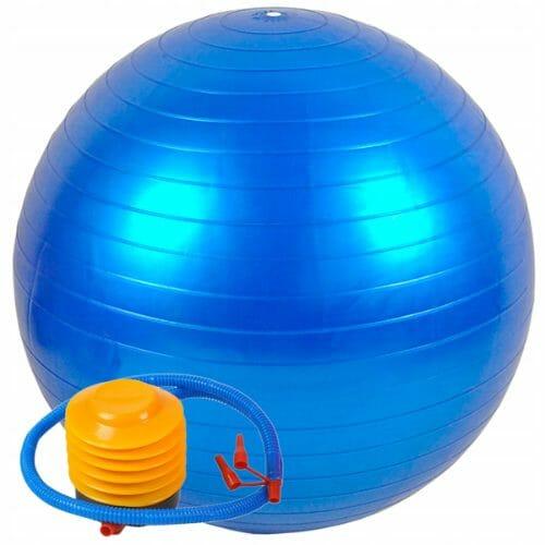 Tania piłka gimnastyczna z pompką w zestawie