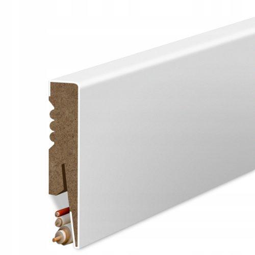 Gold Door MDF biała listwa przypodłogowa o wysokości 8 cm