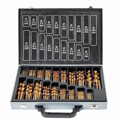 Zestaw 170 wierteł tytanowych w praktycznej walizce