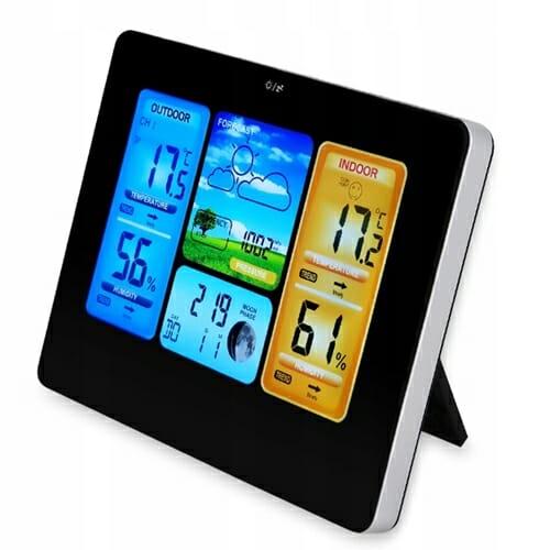 Bezprzewodowa Stacja Pogodowa Zegar Termometr Data