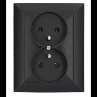 Gniazdko podwójne brązowe Timex-Elektro