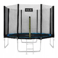 Trampolina zewnętrzna z zamykanym wejściem 312 cm
