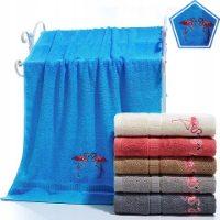 Komplet ręczników z haftem do kąpieli