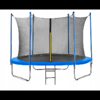Ogrodowa trampolina z wewnętrzną siatką 305 cm