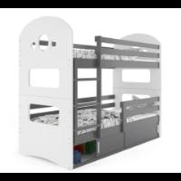 Łóżko piętrowe dla młodzieży z szafką