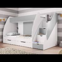 Piętrowe łóżko z szufladami