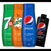 Syropy Pepsi + Mirinda + 7up + Pepsi MAX
