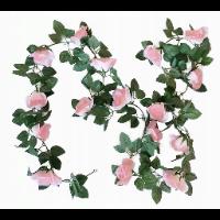 Girlanda z różowymi różami