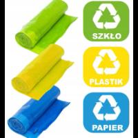Kolorowe worki do segregacji śmieci