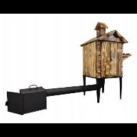 Wędzarnia drewniana z półką