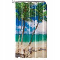 Tania zasłona prysznicowa w palmy