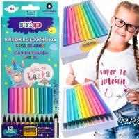 Kredki ołówkowe w pastelowych kolorach