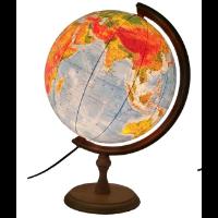 Głowala — podświetlany globus polityczno-fizyczny