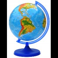 Głowala — kolorowy globus fizyczny