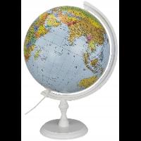 Globus na drewnianej białej podstawie