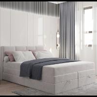 Kontynentalne łóżko z dwoma materacami 160 × 200