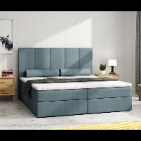 Wąskie kontynentalne łóżko dwuosobowe 140 × 200